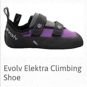"Evolv ""Elektra"" Purple Rock Climbing Shoes"